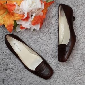 ANNE KLEIN Iflex Brown Slip On Heel Shoes
